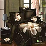 BL 3D print Bedding Set, 100% Cotton King Size 3d Bedding Sets, 4PCS with Duvet Cover, Bed Sheet, 2Pillow Case (Comforter Not Included)