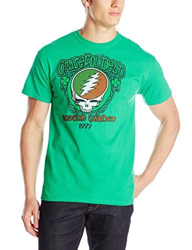 Liquid Blue Men's Grateful Dead Shamrock T-Shirt, Green, (Grateful Dead Athletic T-shirt)