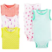 Carter's 5 Pack Tank Bodysuits (Baby) - Assorted-NB