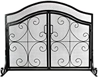 INNO STAGE Wrought Iron Fireplace Screen...