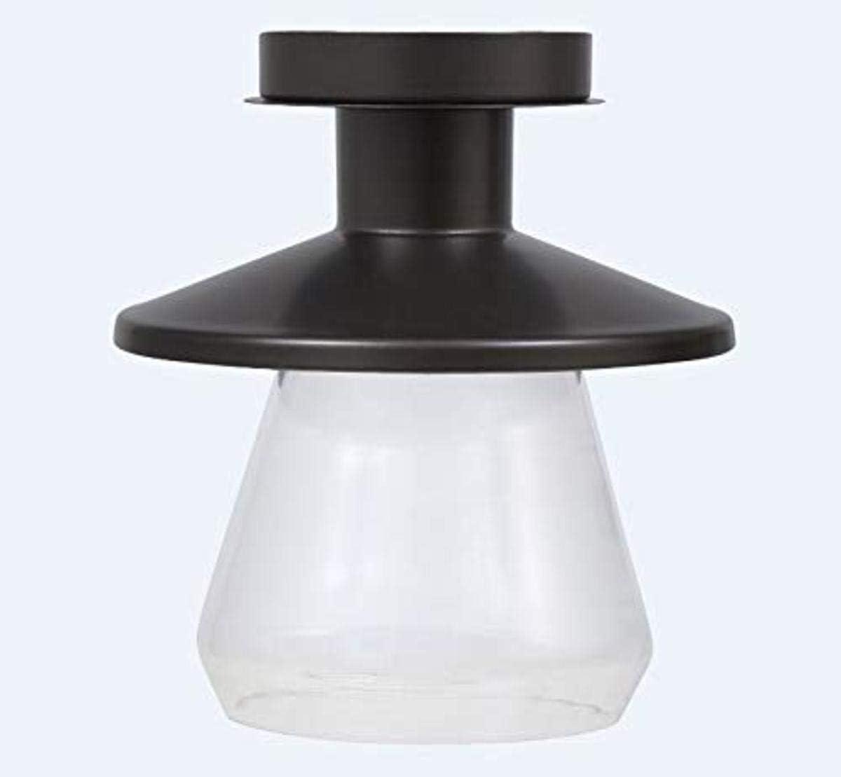 SYLVANIA General Lighting Sylvania Vintage Fixture, Bulb Included, Antique Black 60059 Lincoln Barn Lantern Light, LED, Semi-Flush Mount, Dimmable