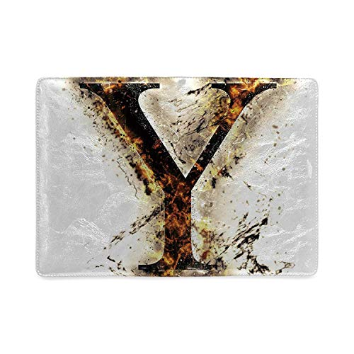 - Letter Y Utility Notebooks,Capital Y in Flames Burning Grunge Gothic Style Conceptual Model of Alphabet Decorative for Work,8.26