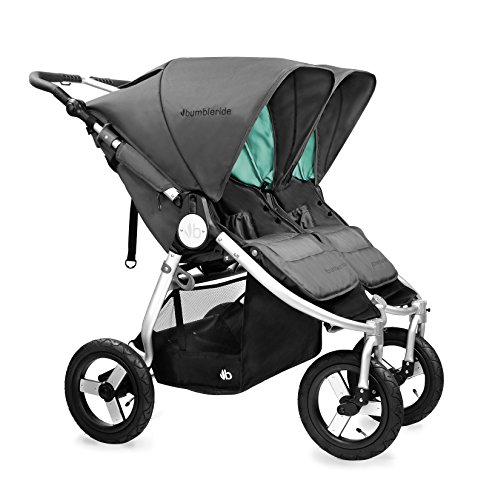 Bumbleride 2016 Indie Twin Stroller with SPF 45 Sun Canopy Extension … (Dawn Grey)