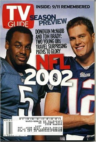 Tv Guide August 31 2002 Donovan Mcnabb Tom Brady Cover Rob Lowe