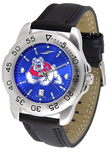 Wrist Watch State Fresno - Linkswalker Mens Fresno State Bulldogs Sport Anochrome Watch