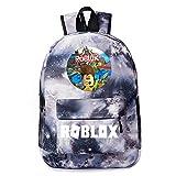 Roblox Game Backpack Red/Yellow/Grey/Purple/Green Versatile Kids Shoulder Bag