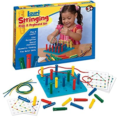 Lauri Toys Stringing Pegs And Pegboard Set by Patch Products
