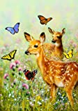 Custom Decor Fawns and Butterflies Large Garden Flag Review