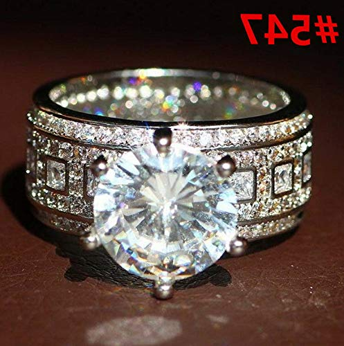 Endicot Women Engagement Wedding Ring Crystal Rhinestone White Gold Plated Rings Jewelry | Model RNG - 5087 | 5