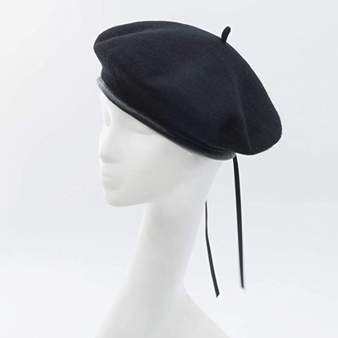 2018 Wool Vintage Warm Wool Women Beret French Artist Beanie Hat Size  56-58cm 74d71933dafe
