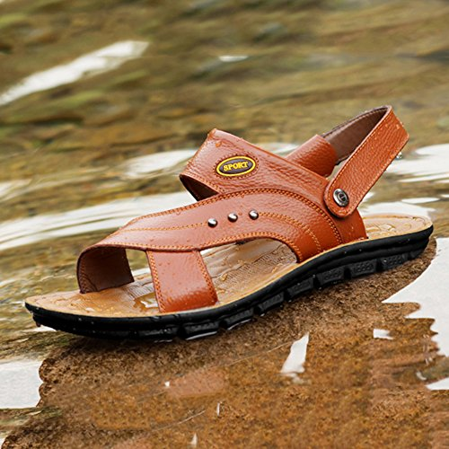 Piscina In In Casual Uomo Da Piscina Per Nuoto Pantofole Pelle Sandali Infradito Suola Yellow2 Estate Morbida x17fwUwqFP