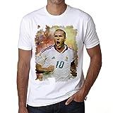 Zinedine Zidane Men's T-shirt Celebrity Star ONE IN THE CITY - White, M