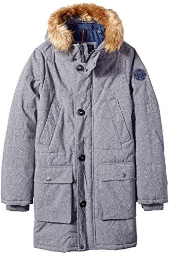 Big & Tall Arctic Cloth Full Length Quilted Snorkel Parka, Heather Grey, XL LONG Big & Tall (Parka Coats For Men With Fur Collar)