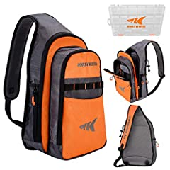 Designed for the angler on the go, KastKing's Pond Hopper fishing tackle bag is designed to efficiently manage manage tackle so you can stay mobile. This is the ultimate tackle storage bag for a hike up a mountain, kayaking or SUP trip down a...