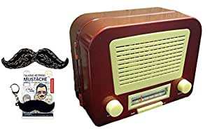 Unique Quirky Novelty Vintage Radio with Secret Hidden Compartment Men Women Unique Perfect Gift for Dad from Daughter College Graduation Father Day Gift Idea Him Her Parent Newlywed Married Couple
