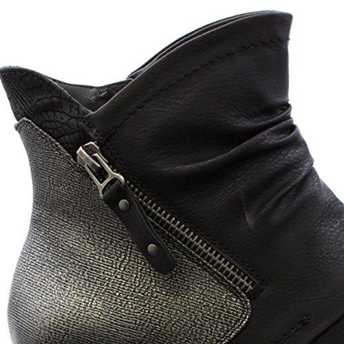 Boot JANA Womens Black Black Black Ruched Boot Ankle JANA Ankle Black Ruched Womens JANA HqfxR