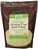 NOW Foods Certified Organic Golden Flax Seed Meal,22-Ounce (Pack of 3)