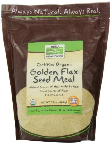 NOW Foods Certified Organic Golden Flax Seed Meal,22-Ounce (Pack of 3) (Tru 22 Oil)