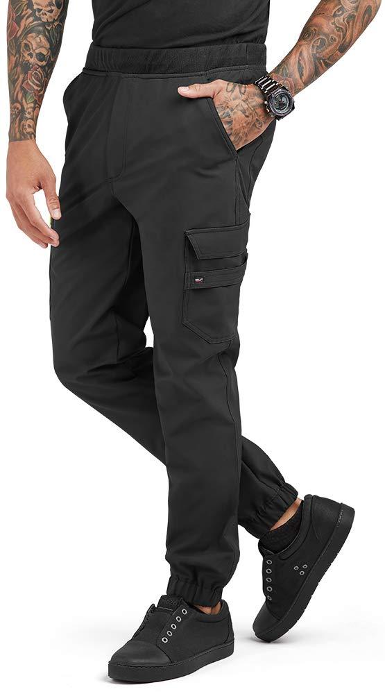 Men's Performance Stretch Jogger Chef Pant (S-3X, Black) (Medium) by ChefUniforms.com