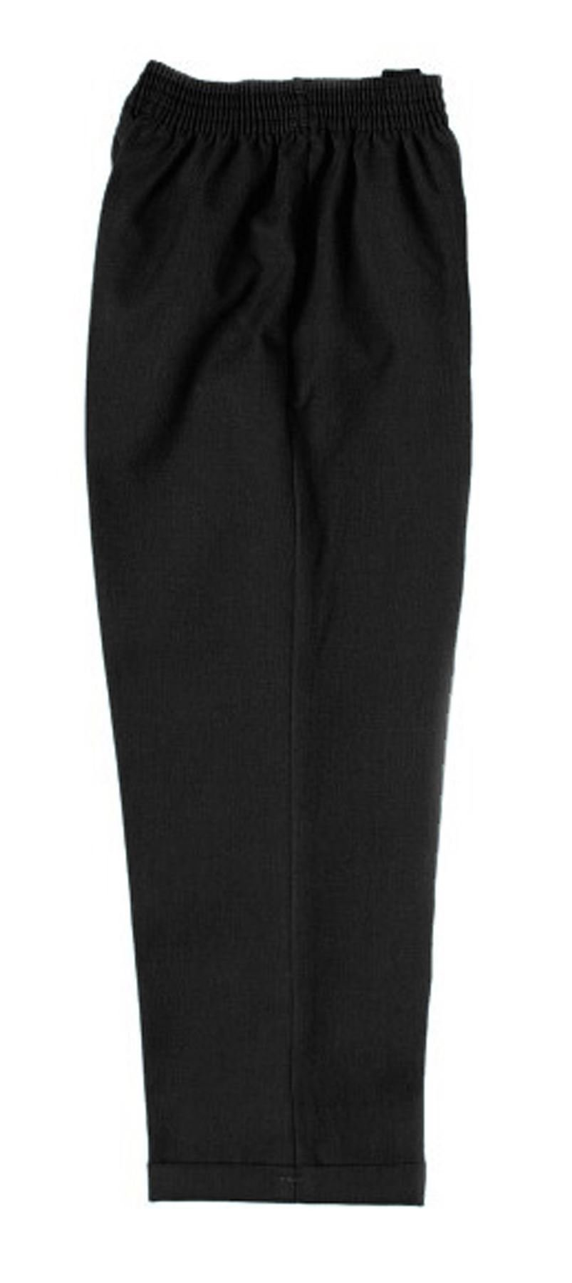 Pull Up Fully Elasticated School Trouser Black Age 7-8
