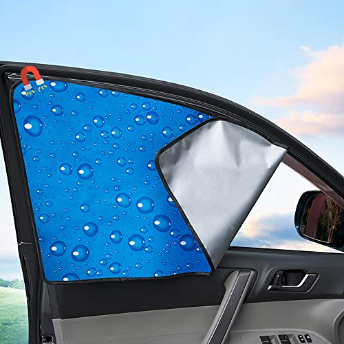 Side Window Sunshade Sun Shade for Car Window Double Thickness Auto Windshield Sunshades Universal Fit for driver UV protection 2 Pack