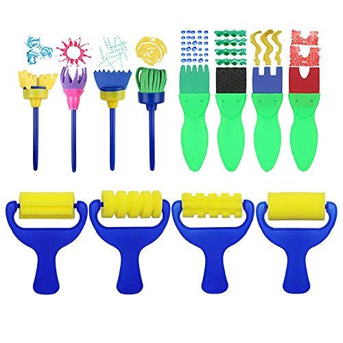 - Meetory 12 Pcs Sponge Paint Brush,Multi-Shapes Stamp Flower Drawing Foam Tool