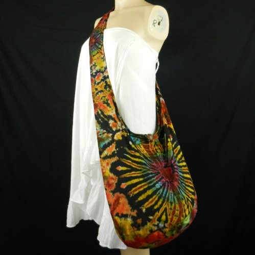 BTP! Heart Tie Dye Sling Crossbody Shoulder Bag Purse Hippie Hobo ...