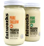 Fatworks Pastured Lard & Tallow Combo Pack - 14 oz Each