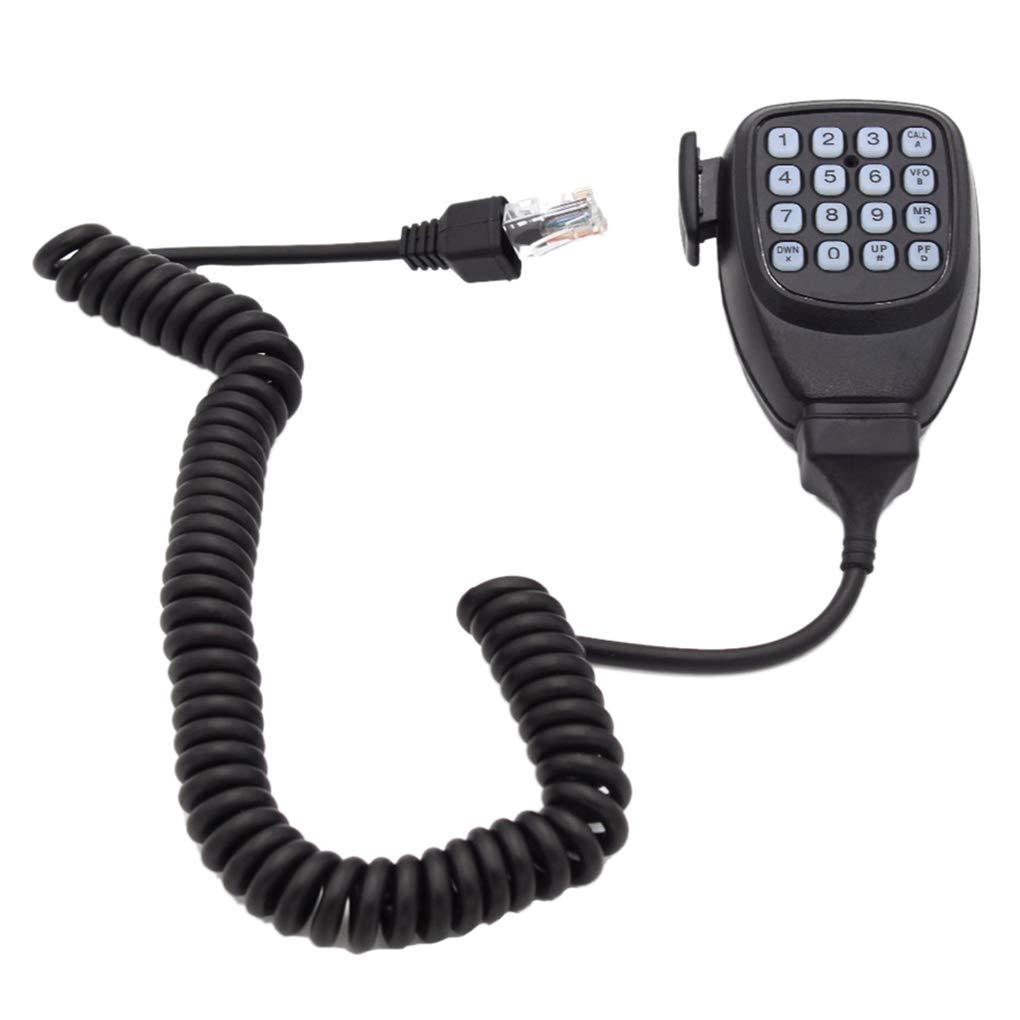 Morza Radio Mó vil micró fono DTMF micró fono del Altavoz de Repuesto para la Radio de Coche Kenwood TM-261A-271A del transceptor TM