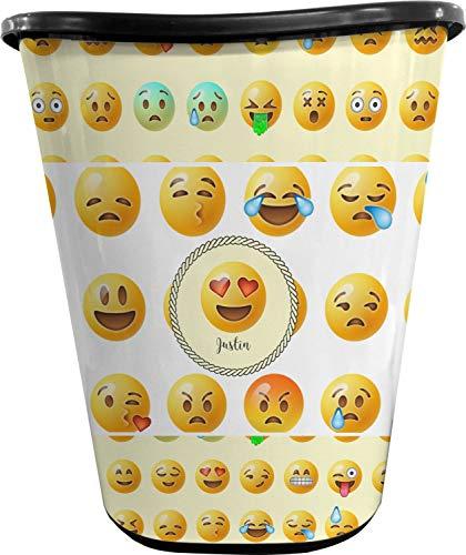 RNK Shops Emojis Waste Basket - Single Sided (Black) (Personalized)