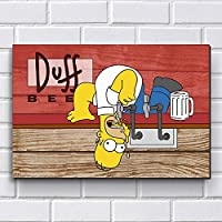 Placa Decorativa em MDF com 20x30cm - Modelo P215 - Simpsons Duff