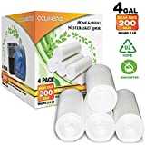 4 Gallon Small Trash Bags Bathroom Garbage Bags Clear Plastic Wastebasket Can Liners for Home and Office Bins, 200 Count
