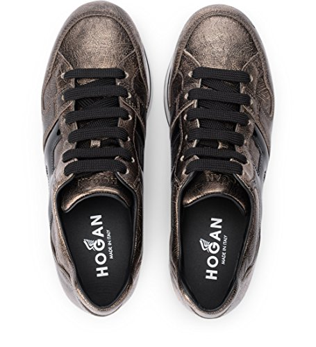 Hogan Sneaker H222 in Pelle Oro Pallido E Vernice Nera 38(EU) -5.5(UK) Gold amazon cheap online discount Cheapest buy cheap best prices purchase for sale JPf9hPhNC