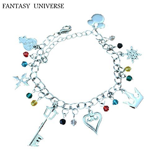 Kingdom Hearts 7 Charms Lobster Clasp Bracelet in Gift Box by Superheroes