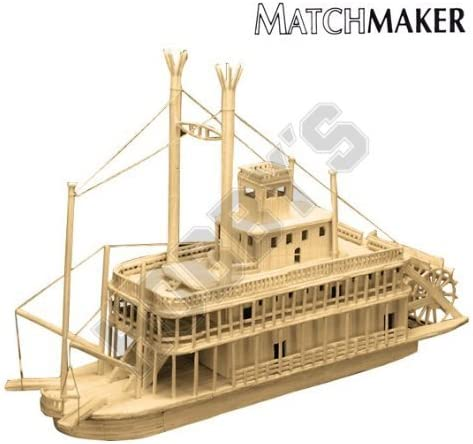 Riverboat Matchstick Model