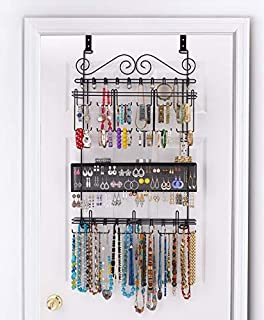 Longstem: 6100 Overdoor Wall Jewelry Organizer Valet In Black   Holds Over  300 Pieces!