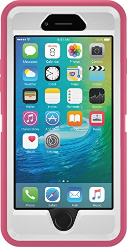 Frost White Silicone (OtterBox DEFENDER iPhone 6/6s Case - Retail Packaging - HIBISCUS FROST (WHITE/HIBISCUS)