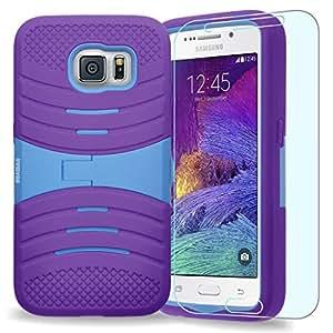 Samsung Galaxy S6/G920 caso, caso w/armadura INNOVAA turbulentode Protector de pantalla y lápiz capacitivo - color azul/morado