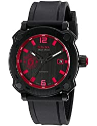 Bulova Mens Percheron Swiss Automatic Stainless Steel and Rubber Casual Watch, Color:Black (Model: 65B165)