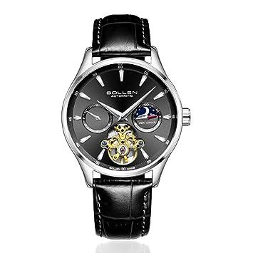 Eqerlian Reloj de Caballero de Alta Gama para Hombre. Reloj de Caballero de Cuero Impermeable para Hombres,3: Amazon.es: Deportes y aire libre