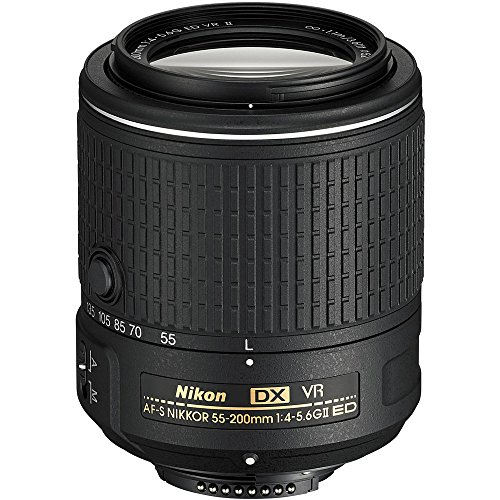 Nikon AF-S DX NIKKOR 55-200MM f/4-5.6G ED Vibration Reduction II Zoom Lens with Auto Focus for Nikon DSLR Cameras (Certified Refurbished)