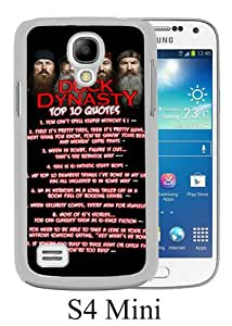 duck dynasty 5 White Personalized Photo Custom Samsung Galaxy S4 Mini Cover Case