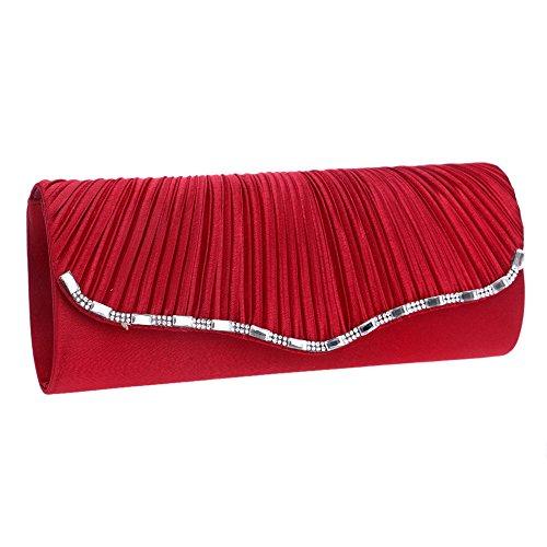 Red ZAMAC Red pour ClutchBag13 red Pochette ZAMAC femme Rouge A8q8xUaTrw
