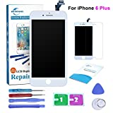 #5: Qi-Eu LCD Display for iPhone 6 Plus 5.5 inch Touch Screen Digitizer Replacement Assembly-White, Repair Tools Kit and Instructions are Included