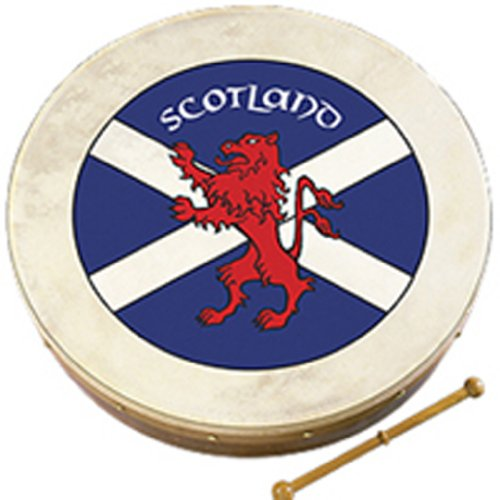 Waltons Bodhrán 18″ (Scots Flag) – Handcrafted Irish Instrument – Crisp & Musical Tone – Hardwood Beater Included w/Purchase