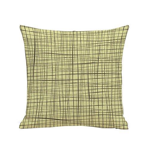 Littay Pillowcase 18inch x 18inch,European Home Decor 4545cm Cotton Linen Cushion Cover Throw Pillow Case