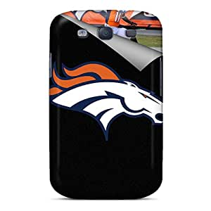 Shock Absorption Hard Phone Case For Galaxy S3 With Provide Private Custom Trendy Denver Broncos Pictures No1cases