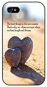 iPhone 5C The best things in life are unseen. Love, heart - black plastic case / Inspirational and motivational