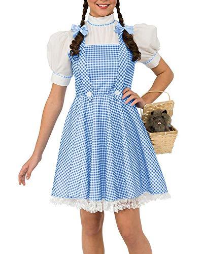 Abninigee Womens Halloween Wizard of Oz Dorothy Adult Costumes Dress