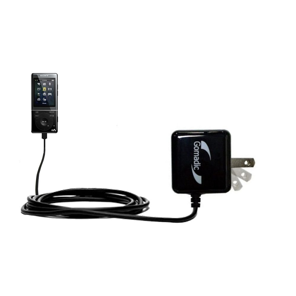 Gomadic High Output Home Wall AC Charger designed for the Sony Walkman NWZ-E463 E465 E473 E474 E475 with Power Sleep technology - Intelligently designed with Gomadic TipExchange